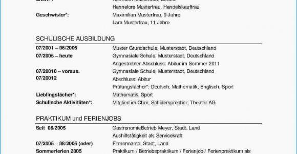 Lebenslauf Deutsch Klasse 8 Vorlage Lebenslauf Englisch
