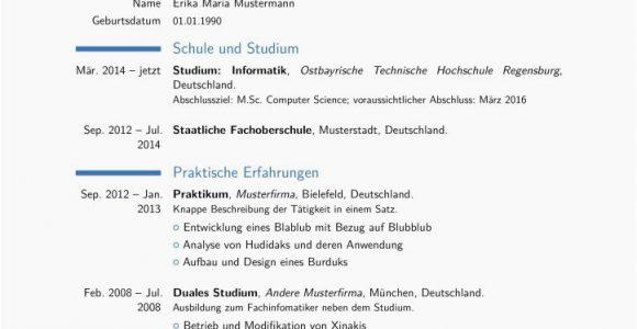 Lebenslauf Deutsch Latex Lebenslauf Latex Vorlage Deutsch