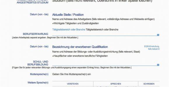 Lebenslauf Deutsch Nicht Muttersprache Vorlage Lebenslauf Französisch In 2020