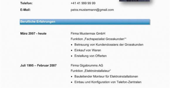 Lebenslauf Deutsch Schweiz Lebenslauf Vorlage Klassisch & Modern
