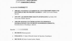 Lebenslauf Deutsch Sprache Deutsch Lebenslauf