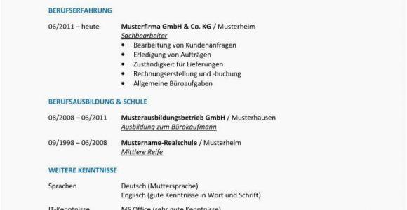 Lebenslauf Deutsch Struktur Aufbau Lebenslauf Deutsch