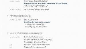 Lebenslauf Deutsch Studium Lebenslauf Vorlage Studium Kostenloser Download
