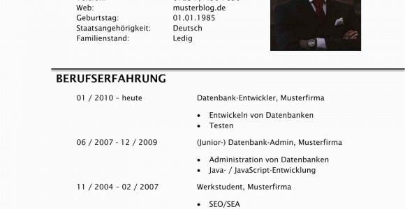 Lebenslauf Gestalten Java Lebenslauf Für Den Werkstudentenjob 2020 [inkl Muster
