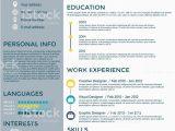 Lebenslauf Graphic Design Flache Lebenslauf Infografikdesign Stock Vektor Art Und Mehr
