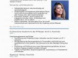 Lebenslauf Hr Manager Deutsch Lebenslauf Mit Persönlichen Profil Schlüsselwörtern 2