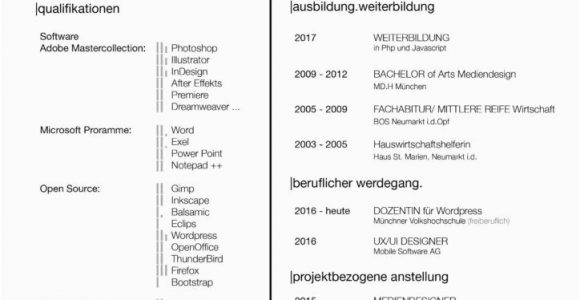 Lebenslauf Im Grafikdesign Lebenslauf – Katrin Radschinsky Portfolio