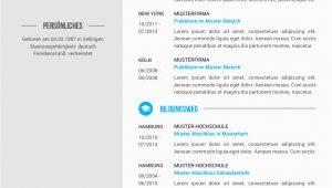 Lebenslauf In Design Vorlage Premium Bewerbungsmuster 6