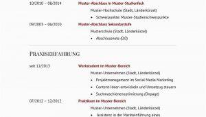 Lebenslauf Marketing Manager Deutsch Lebenslauf Muster Für Führungskraft