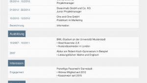 Lebenslauf Online Deutsch Lebenslauf Vorlagen & Muster Kostenloser Download Als Pdf