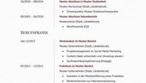 Lebenslauf Template Deutsch Lebenslauf Zum Kostenlosen Download