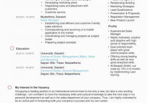 Lebenslauf Und Bewerbung Auf Englisch Résumé Vorlage Kostenloser Download