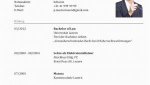 Lebenslauf Vorlage Ch Lebenslauf Vorlage Klassisch & Modern