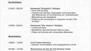 Lebenslauf Vorlage Gastronomie Lebenslauf Muster Gastronomie Lebenslauf Muster Gastronomie