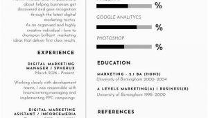 Lebenslauf Vorlagen Marketing Marketing Lebenslauf Vorlage & Muster Flipsnack