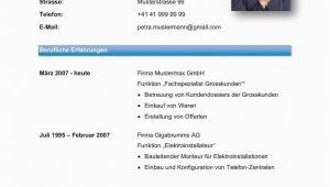 Moderner Lebenslauf Schweiz Vorlage Lebenslauf Vorlage Klassisch & Modern
