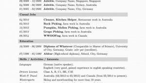 Work and Travel Lebenslauf Englisch Ein Kurzer Lebenslauf Bzw Résumé – Wander Dude
